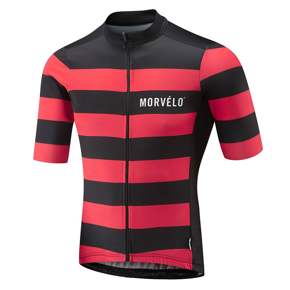 Cycearth 9D Pad 2018 Morvelo Summer Breathable Short Sleeve Cycling Jersey