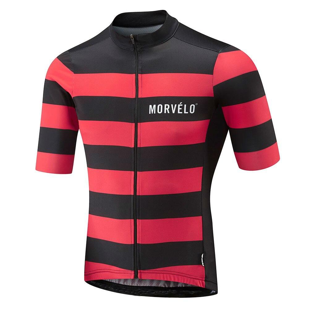 9D pad, 2018 Morvelo Sommer Atmungsaktive Kurzarm Radfahren Jersey Ropa De Ciclismo Hombre Bike Kleidung Tops MTB Fahrrad Kleidung