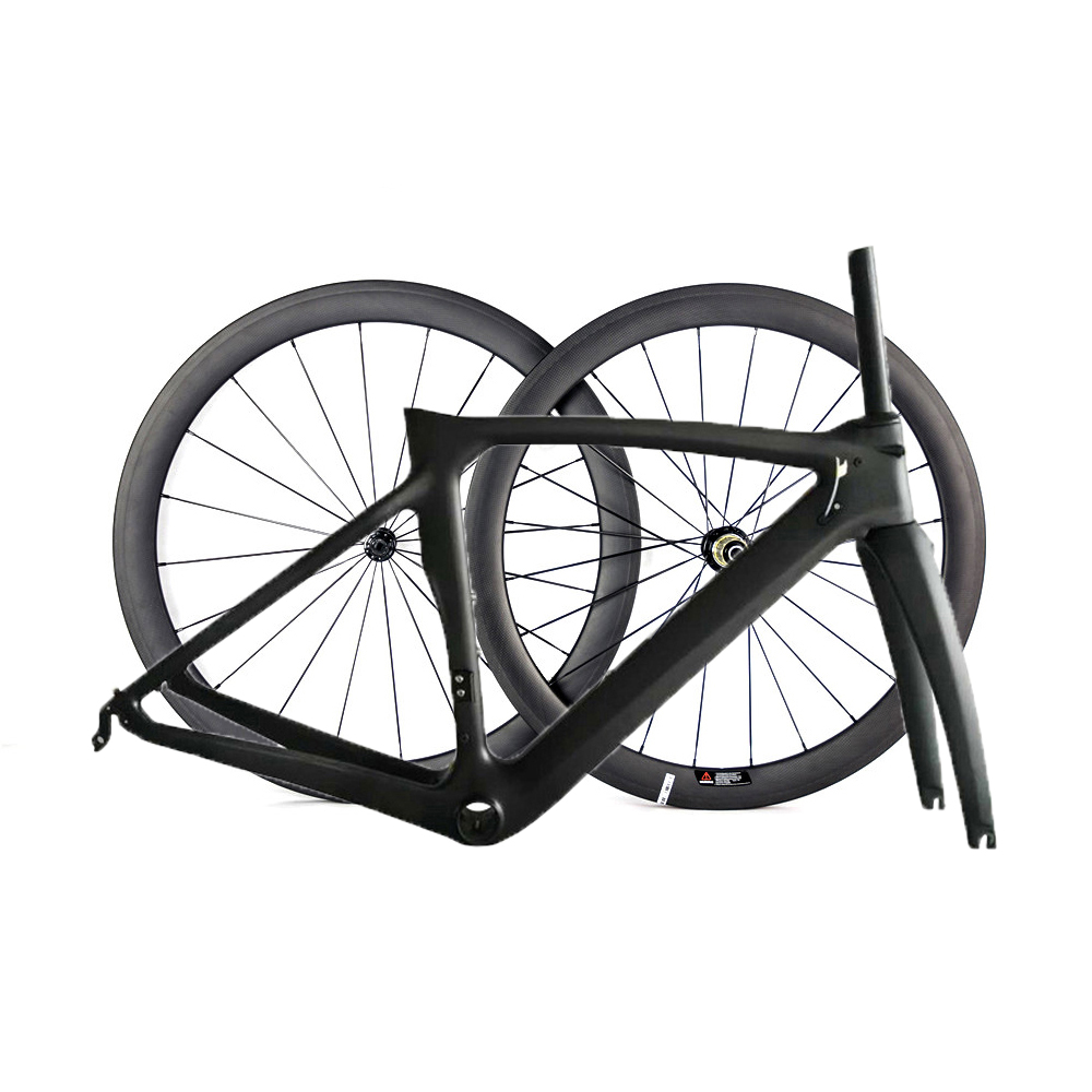 Smileteam Full Carbon Fiber Road Bike Frame And Wheels With Original Logo BB386 Full carbon Road Bicycle Frameset Quick ship t700 full carbon road bicycle frame bb386 road bike 3k weave 54cm in stock 3 days delivery