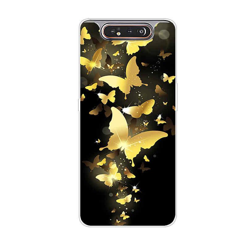 Pour Samsung A80 Cas Couverture Arrière En Silicone Téléphone étui pour Samsung Galaxy A80 A805 SM-A805 A10 A20 A30 A40 A50 A70 TPU