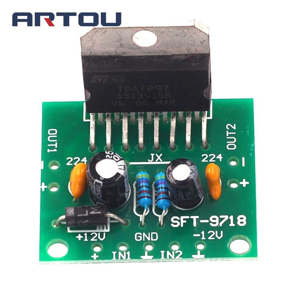 Tda1521 Power Amplifier Board Btl 30w Circuit Effect With Lm1876 Tda1521a Stereo Audio 1set Tda7297 Spare Parts Dc 12v Grade 20 Dual Encoding 15w Electronic Diy