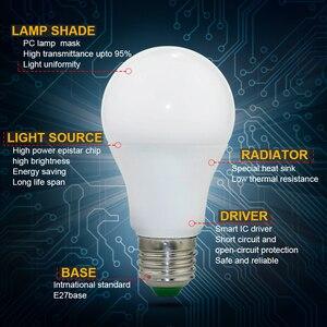 Image 3 - קסם RGB LED אור הנורה AC85 265V חכם תאורת מנורת צבע שינוי ניתן לעמעום עם IR מרחוק בקר 5W 10W 15W חכם הנורה