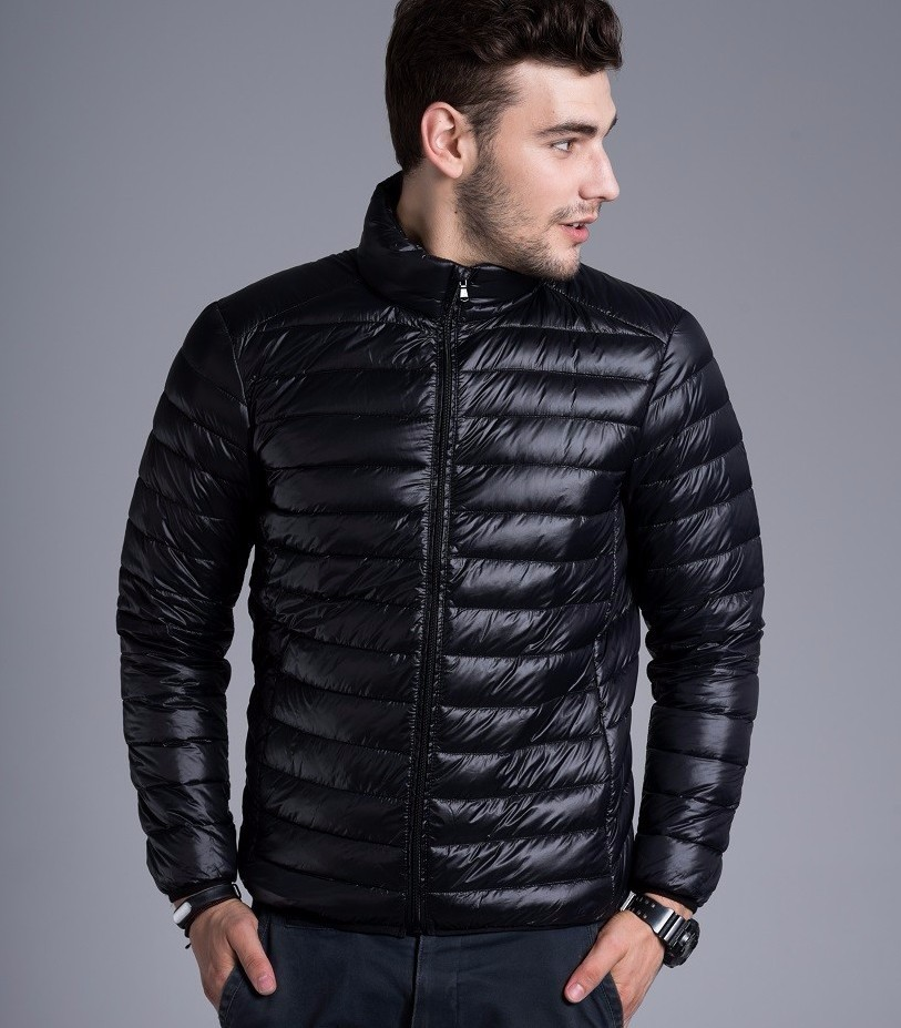 Men casual warm Jackets solid thin breathable Winter Jacket Mens outwear Coat Lightweight parka Plus size XXXL hombre jaqueta 6