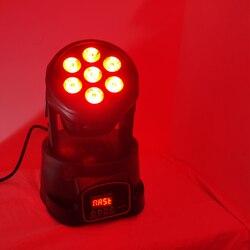 Светодиодный мини-светильник для мытья 7x12 Вт с подвижной головкой, мини-светильник для мытья головы 7x12 Вт rgbw 4в1