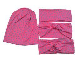 S17569 Новая эластичная модная губная помада с принтом хлопковые аксессуары для волос для женщин теплые повязки для женщин дизайн на заказ