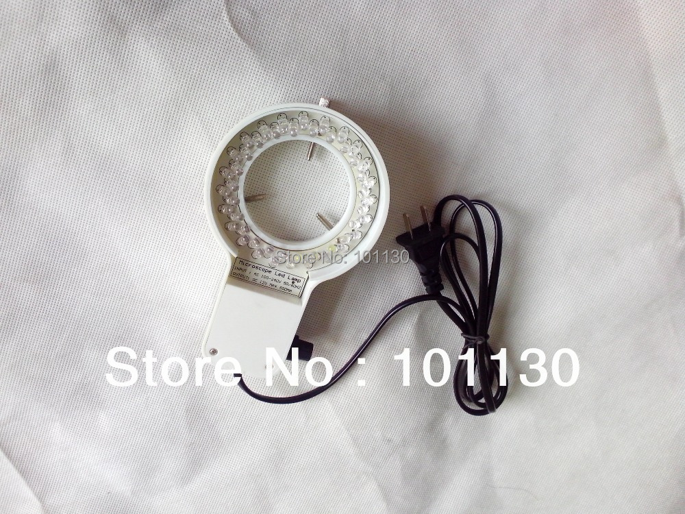 New White Brightness Adjustable Microscope LED Lamp Ring Light for Stereo Microscope with 60mm Inner Diameter 40 pcs LED Light  цены