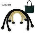2 пара веревочными ручками для Obag AMbag женские сумки конопли плечо сумка лентой obag обрабатывать длинные размер 70 см и 40 см длина