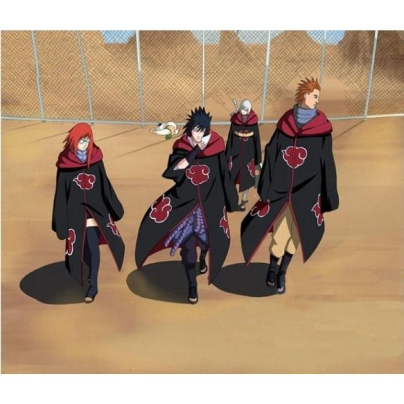 Naruto Akatsuki Uchiha Itachi Cosplay Costume Naruto Cloak Hoodie Party Anime Cos Clothing Gift For Adult Kids Clothes Wholesale