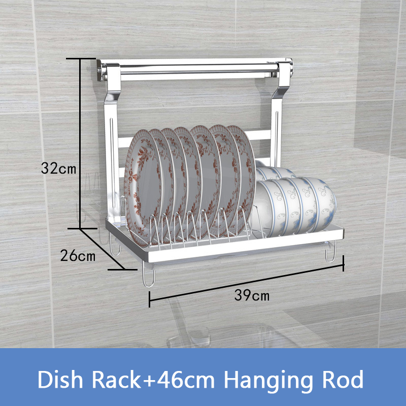 US $11.34 28% OFF|DIY Kitchen Rack Stainless Steel Kitchen Shelf Dish Racks  Pan Cover Lid Storage Kitchen Organizer Tools-in Racks & Holders from Home  ...