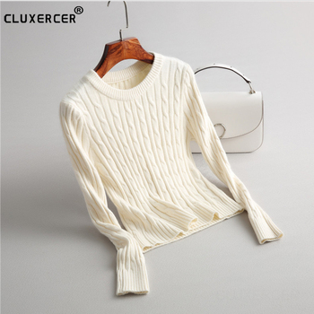 Sweaters Women 2018 Spring autumn O-neck Long Sleeve Pullovers Knitted Sweater Female Warm Tops knitted sweater sexy deep v neck cashmere sweater female women sweaters and pullovers autumn long sleeve button tops 2018