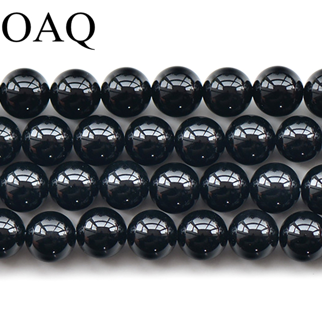 2-12mm Blace DIY Agat Beads For Jewelry Making Round Wholesale Beads For Necklac