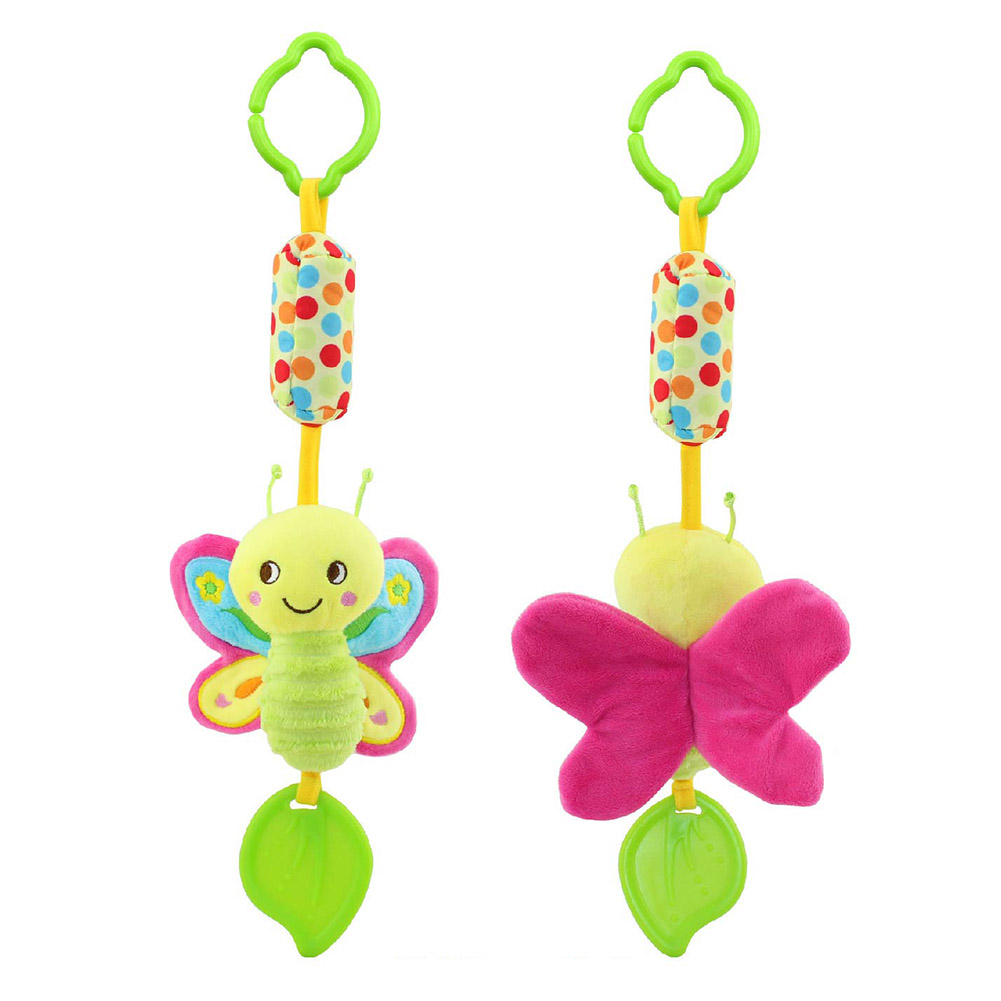 Infant-Wind-Chimes-Plush-Toys-Hanging-Newborn-Crib-Car-Lathe-ButterflyBirdChicksOwl-Animal-Baby-Bed-Rattles-Bell-Toy-4