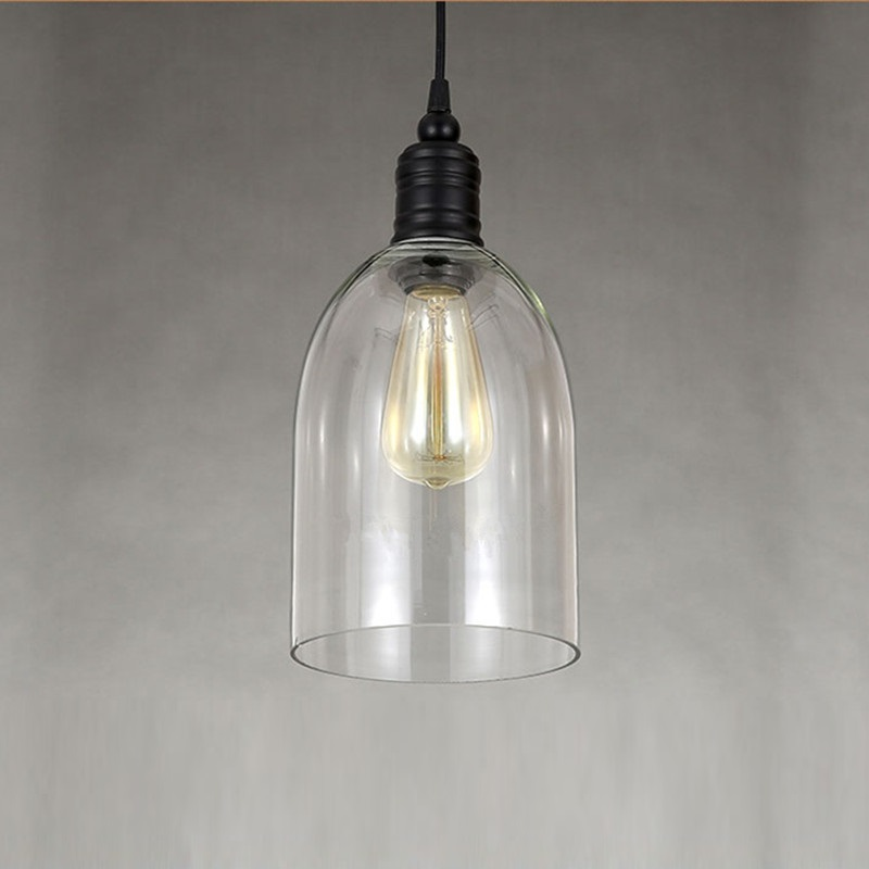 industrial lighting fixtures. Clear Glass Modern Pendant Lights Industrial Lighting Fixtures Kitchen Island Light Antique Mini Ceiling Lamp-in From