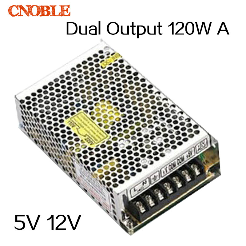 120W Dual output 5V 12V Switching power supply AC to DC DC12A DC5A ce ccc ac dc dual output 12v 120w power supply