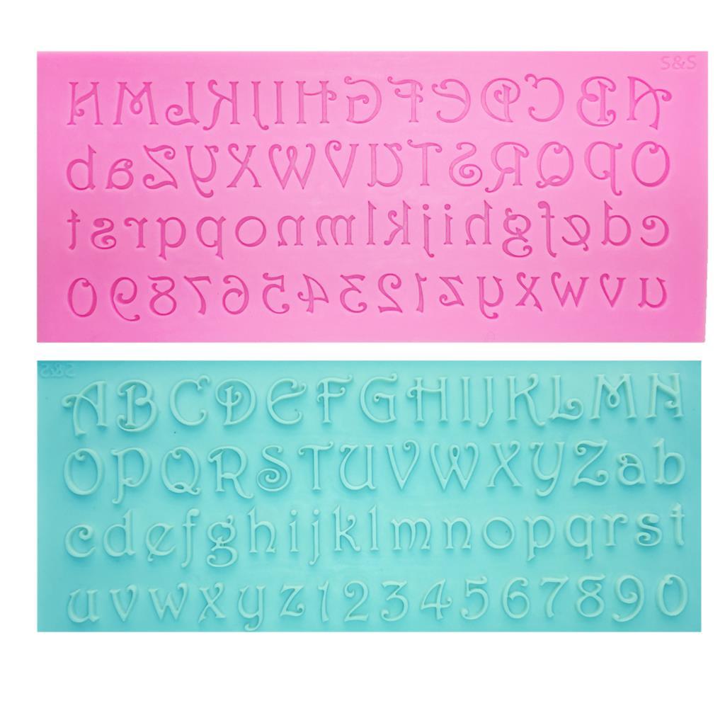 M0701 Alphabet Letter/Number Silicone Mold Fondant Mold Cake Decorating Tools Chocolate Gumpaste Mold