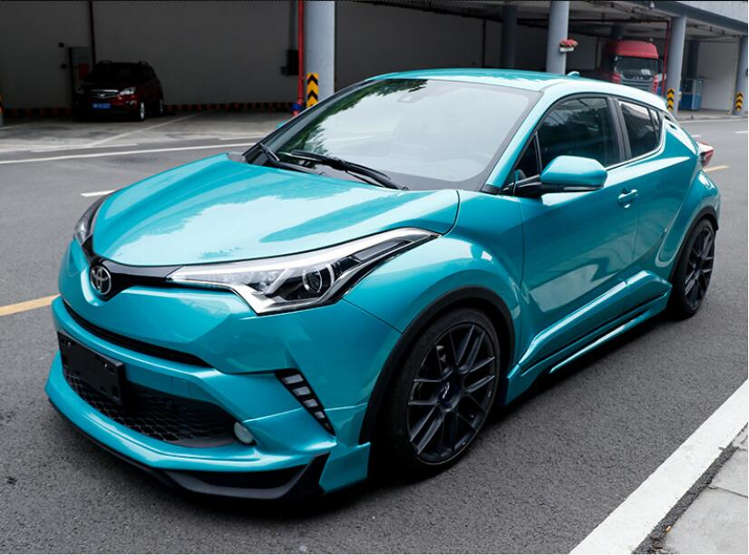 PP For Car Front Rear Bumper Lip Diffuser Side Skirt Spoiler With Fender Wheel Wide Body For Toyota CHR 2017 2018 2019 2020|Bumpers| |  - title=
