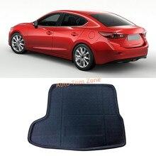 1 ШТ. Интерьер Черный Задний Багажник Boot Коврик Ковровое Покрытие Для Mazda3 Mazda 3 Axela 2014-2016 (Для седан Модель)