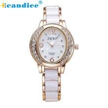 Reloj 2017 New Design Sizzling Sale New Crystals Quartz Girls Analog Wrist Vogue Bracelet Watch 17feb16