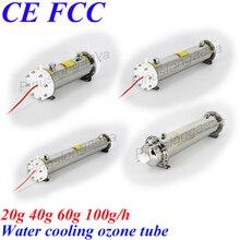 Pinuslongaeva Tubo de ozono para refrigeración por agua, 20G, 40G, 60G, 100 G/H, tubo de ozono de acero inoxidable, electrodo interno de carcasa de 304 L