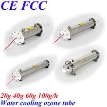 Pinuslongaeva Water cooling ozone tube 20G 40G 60G 100G/H Stainless steel ozone tube 304 Shell Inner electrode 316L