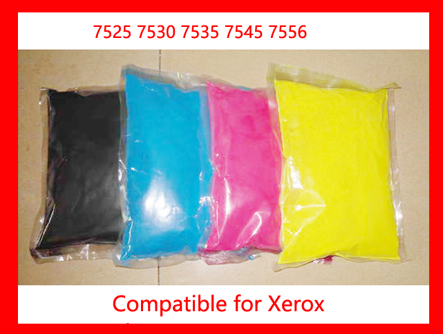 compatible for xerox 7525 7530 7535 7545 7556 refill color toner CMYK high quality color toner powder 013r00662 oem drum chip for xerox workcentre 7525 7530 7535 7545 7556 color laser printer toner cartridge 125k