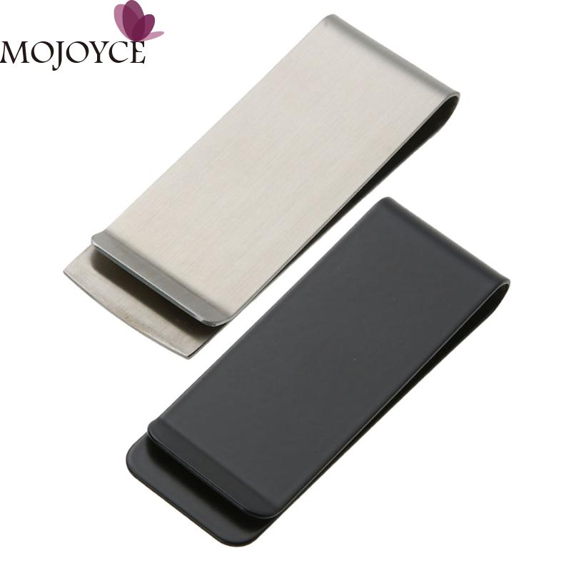 2018 Latest Metal Stainless Steel Money Clips Wallet Folder Clip Collar Wallet Cash ID Credit Card Money Holder high quality stainless steel money clips wallet folder clip collar metal clip simple money clip stainless steel money clamp hold