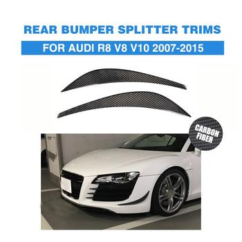1 sợi Carbon Trước Cốp Dán trang trí Vây ĐẦM XÒE DỰ Audi R8 V8 V10 2008-2015 Xe Ô Tô điều chỉnh Phần