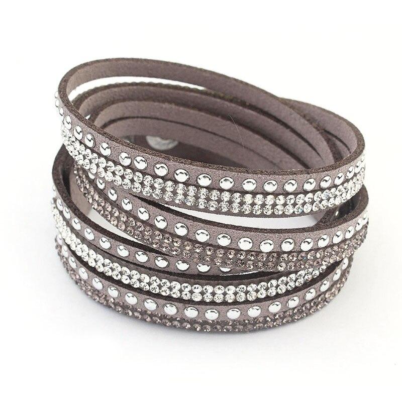 (12pcs/lot) 17 Colors Faux leather/suede Bracelet Glitter Wrap Leather Bracelet