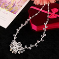 Handmade Wedding Necklace Earrings Sets Pearls Rhinestone Bridal Jewelry Sets Crystal Accessories For Brides New style