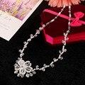 Hecho a mano de la Boda Conjuntos de Collar Pendientes de Perlas de Imitación de Joyería Nupcial de Cristal Accesorios Para Novias Nuevo estilo