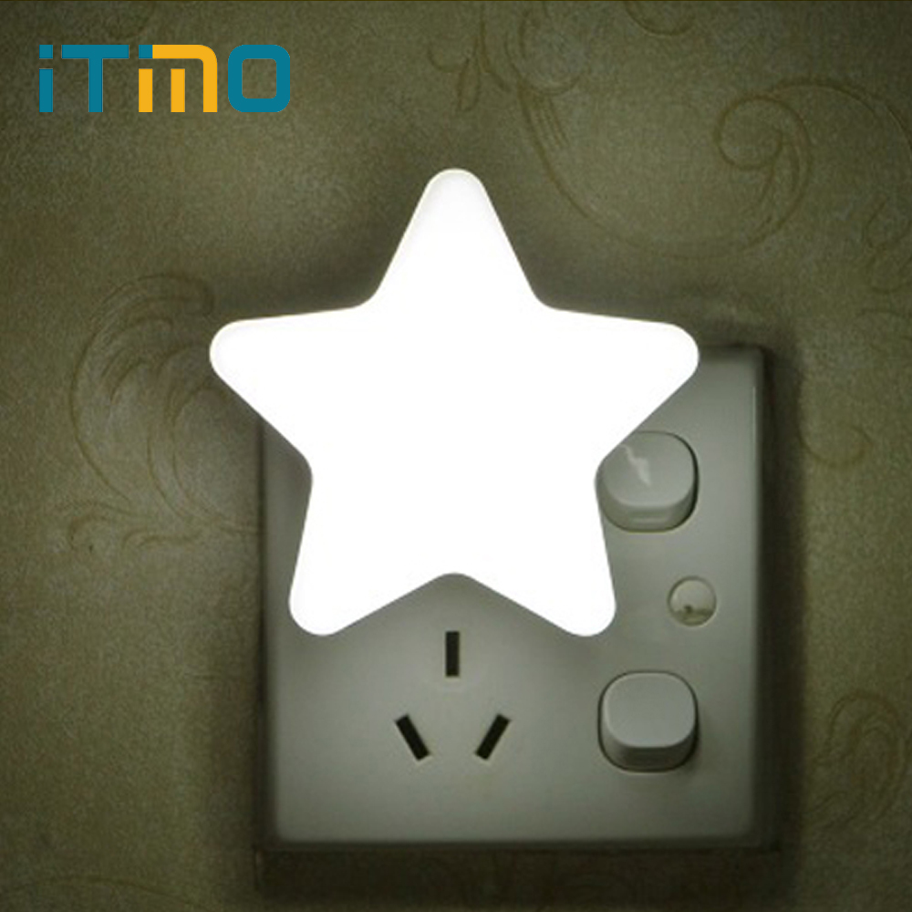iTimo Star Night Light Plug-in Wall Lamp Home Lighting Socket Lamp Children's Room Decoration EU/US Plug Light Control itimo wireless led bulb with remote control dimmable 220v e27 home indoor lighting night light us plug bedroom light lamp