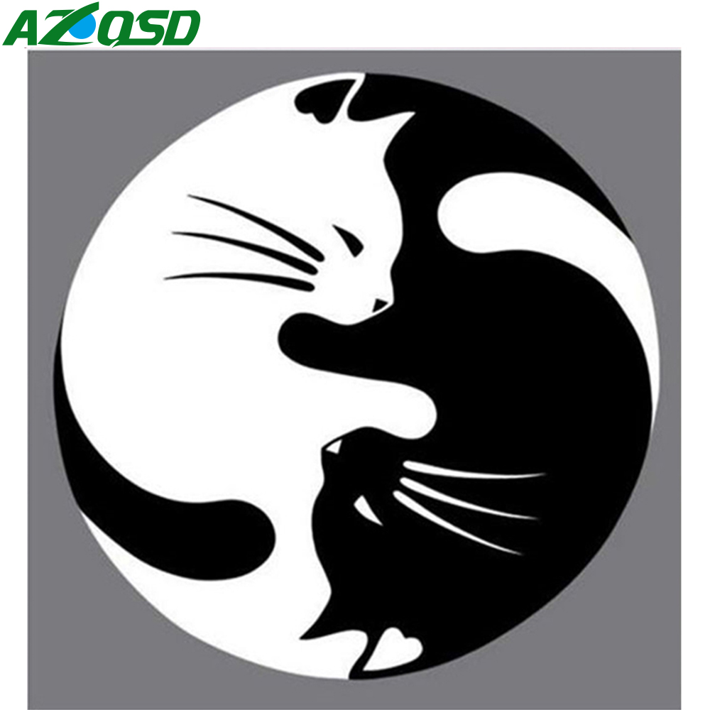 Azqsd 3d Diy Diamond Bordir Minimalis Cat Diamond Lukisan Dekorasi