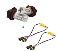 2 X 50W H11 H8 LED Chip Manufacturer Cree Replacement Bulbs For Mercedes W211 W212 W164