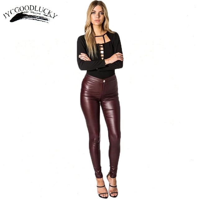 Autumn Winter Fashion Legging All Match Slim Leggins Leather Elegant High Waist Legging For Women Plus Punk Style Jeggings