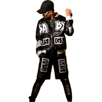 Custom Made Stage Wear Costumes Men PU Leather Jacket Male Fashion Hip Hop Casual Coat Nightclub Singer Dancer DJ Clothing