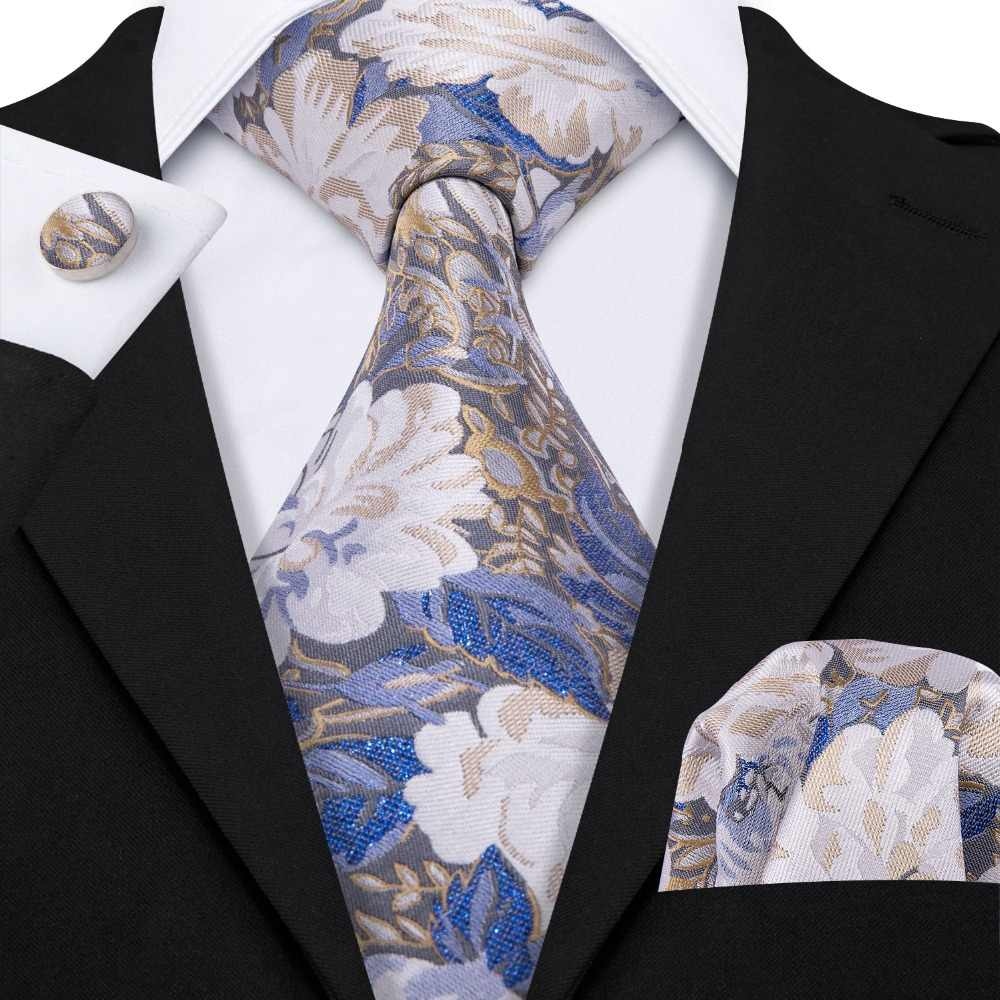 2e86ecd79ac3 Detail Feedback Questions about Luxury Floral Wedding Neck Tie For Men  Business Party 100% Silk Tie Set Barry.Wang Fashion Design Neckwear  Dropshipping LS ...