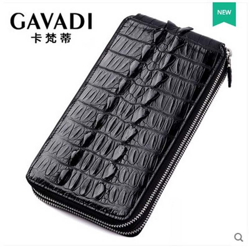 2018 kafandi new crocodile men clutch bag function multi card man leisure hand grab men bag men wallet