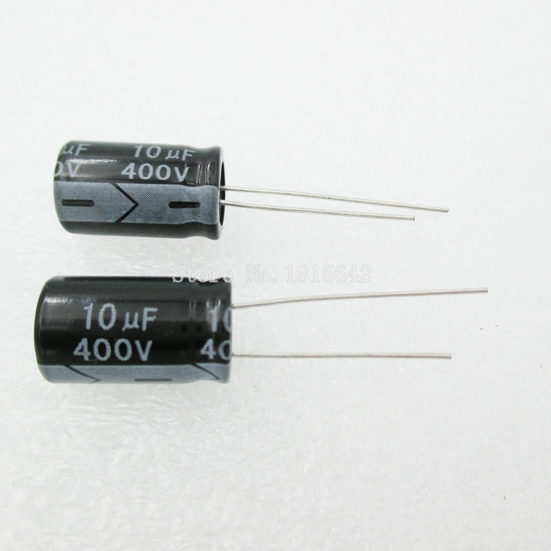 20 unids/lote condensador electrolítico de aluminio 10uF 400V 10*16 condensador electrolítico 400v 10uf
