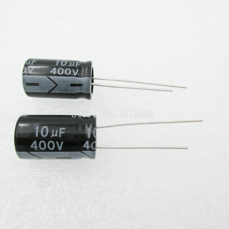 20PCS/LOT Aluminum Electrolytic Capacitor 10uF 400V 10*16  Electrolytic Capacitor 400v 10uf