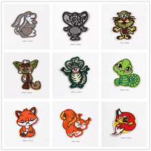 New Animal Cartoon Patches Cap Shoe Iron On Embroidered Appliques DIY Apparel Accessories Patch For Clothing Fabric Badges BU178