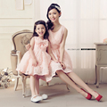 2017 Fashion Mother Daughter Wedding Dresses Summer Family Matching Outfits Ladies Dresses For Party Girls Dresses