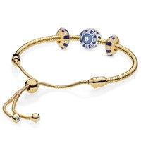 925 Sterling Silver Summer New Pan Bracelet Women's Gem Gift