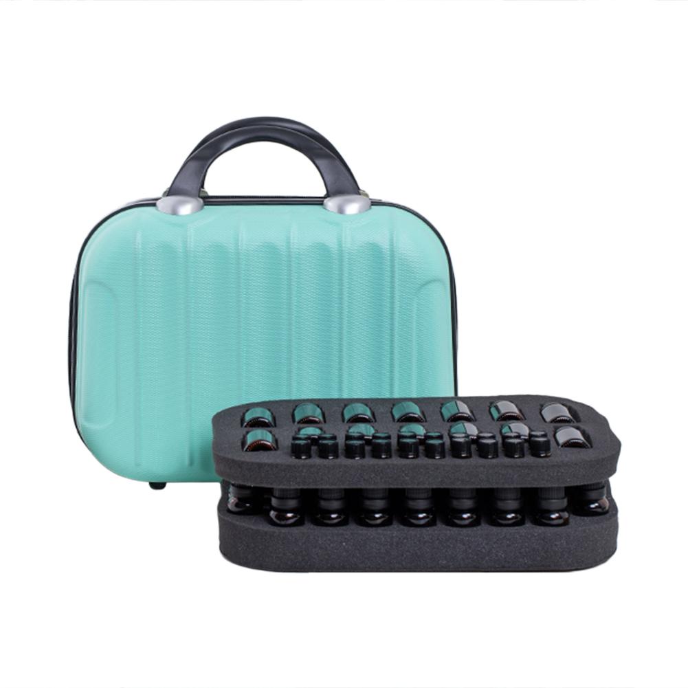 64 Compartment Essential Oil Bottle Travel Bag 15ML Portable Essential Oil Bottle Organizer Case 32