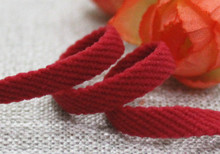 6mm red nylon twill hollow braided rope elastic flat double tapes bow waist belt hat