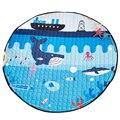 Ocean World Bolsa De Almacenamiento De Juguete Juego de Niños Mats diámetro 1.5 m bebé Gateando Juego multifuncional manta redonda Alfombra/Mat