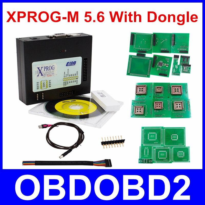 Prix pour Date Version XPROG-M 5.6 Avec USB Dongle ÉCUS Programmeur Xprog M V5.6 ECU Chip Tuning X-Prog M boîte 5.7 Puce Tunning Livraison le bateau