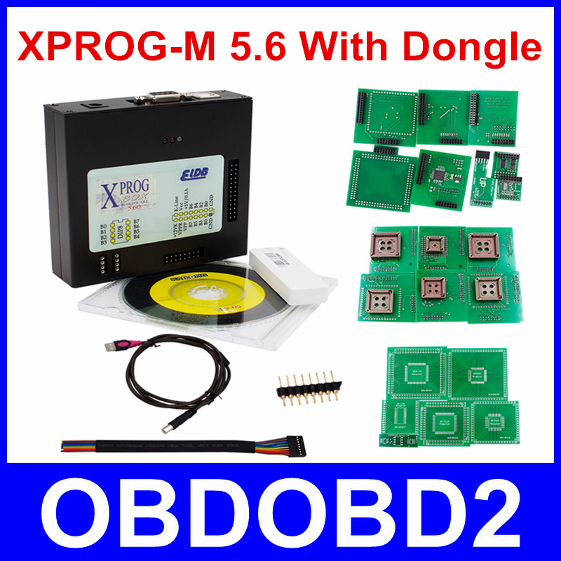 Newest Version XPROG-M 5.6 WIth USB Dongle ECU Programmer Xprog M V5.6 ECU Chip Tuning X-Prog M box 5.7 Chip Tunning Free Ship 2016 newest ktag v2 11 k tag ecu programming tool master version v2 11ktag k tag ecu chip tunning dhl free shipping