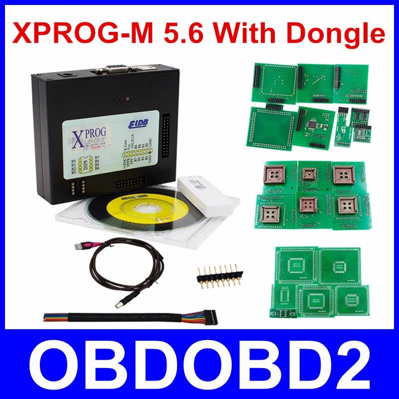 Newest Version XPROG-M 5.6 WIth USB Dongle ECU Programmer Xprog M V5.6 ECU Chip Tuning X-Prog M box 5.7 Chip Tunning Free Ship
