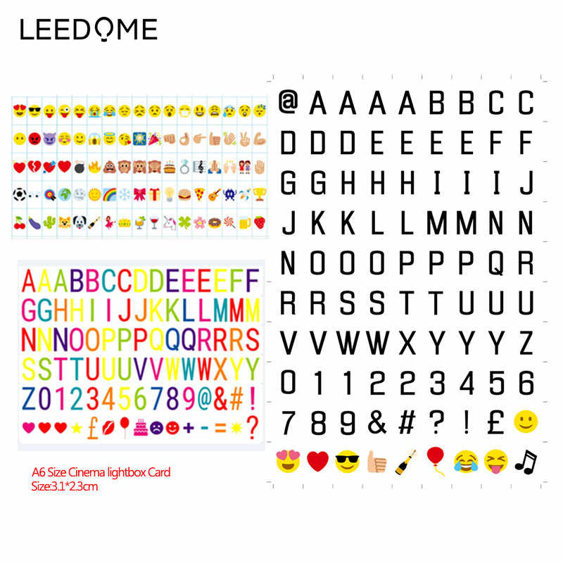 Leedome A6 Size Cinema Night Lightbox Card Balck Letters / Colorful Letters / Expression Card / Symbols & Glyphs & Sign Choice