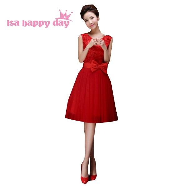 buy popular 7b9e4 505e3 Robe de soiree elegante besondere anlässe formal red modest süße 16 prom  party kleider für teens mädchen kurze kleid w2678